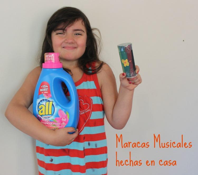 maracas musicales, actividad para niños