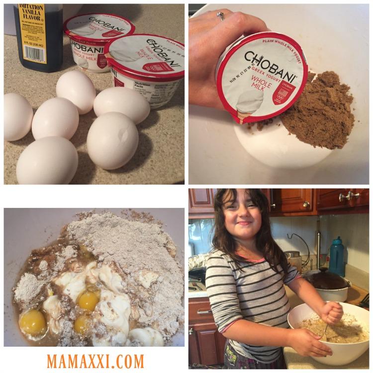 receta, torta, yogur, fácil, casera