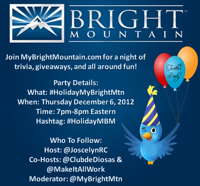 MyBrightMountain.com Twitter Party @MyBrightMTN #HolidayMBM