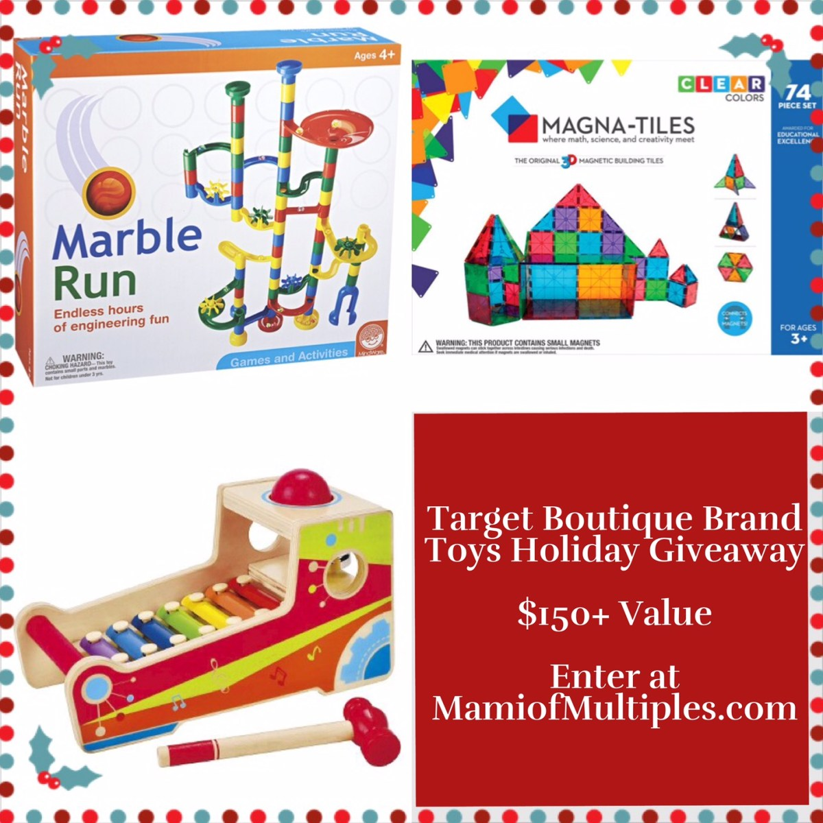 Target Boutique Brand Toys Holiday Giveaway