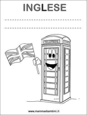 Copertine quaderni per la scuola: inglese in scuola