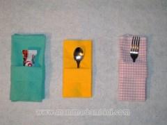 Piegare i tovaglioli: bustina