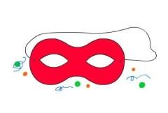 Lavoretti per Carnevale: maschera con tecnica collage in festa carnevale