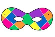 Maschera Arlecchino da stampare in festa carnevale