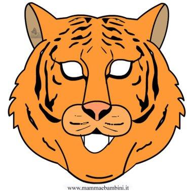 Carnevale: maschera tigre da stampare in festa carnevale