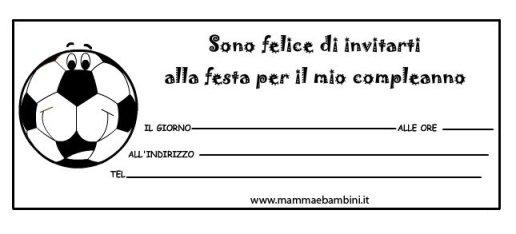 Biglietti inviti compleanno con pallone Juventus in biglietti da stampare