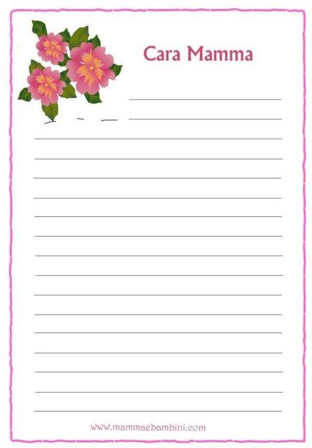 Lettera per la festa della mamma in festa d mamma