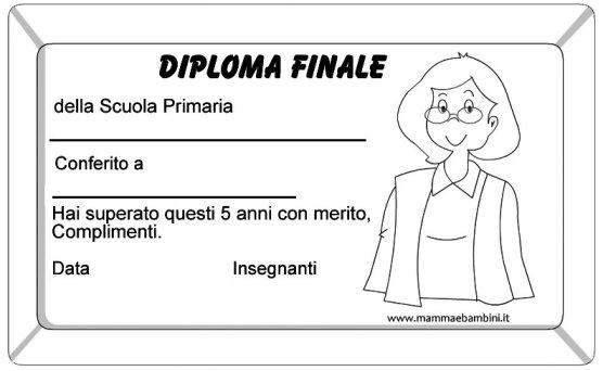 Diploma finale della scuola primaria in scuola diplomi