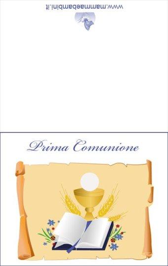 Biglietti Prima Comunione da stampare in biglietti da stampare