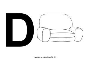 Lettere alfabeto da stampare con disegni in alfabetiere e numeri
