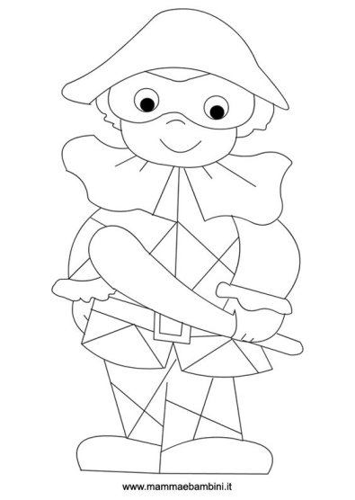 Arlecchino: disegni Carnevale da colorare in festa carnevale disegni da colorare 2