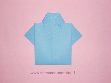 Lavoretti per Festa del Papà: la camicia in lavoretti e addobbi festa del papa