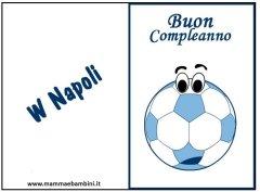 Biglietto compleanno Napoli da stampare