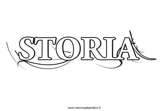 Una nuova copertina di storia da stampare in scuola