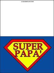 Biglietto con scritta Super Papà