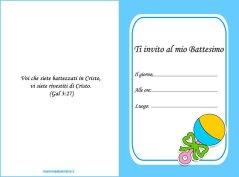 Biglietto partecipazione Battesimo bambino