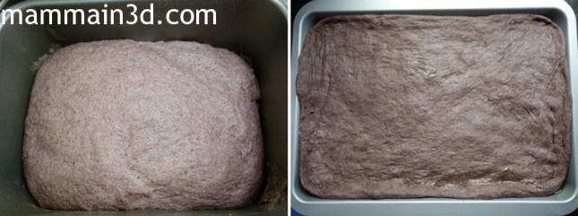 Focaccia nera: impasto con la macchina del pane