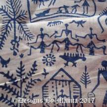 Tribal Warli Print Indian Fabric