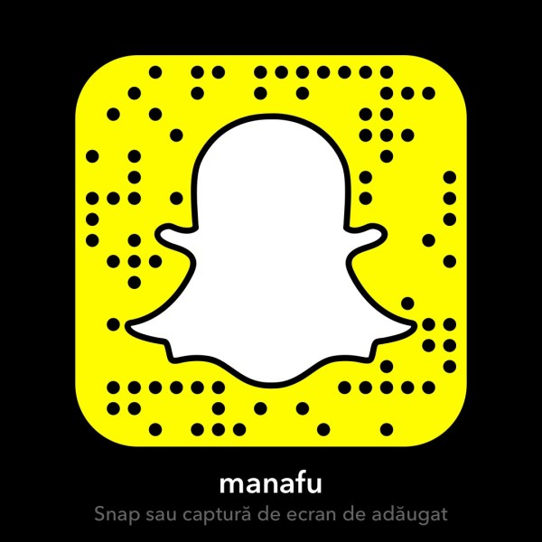 "Ma poti adauga pe Snapchat dupa user-ul ""manafu"""