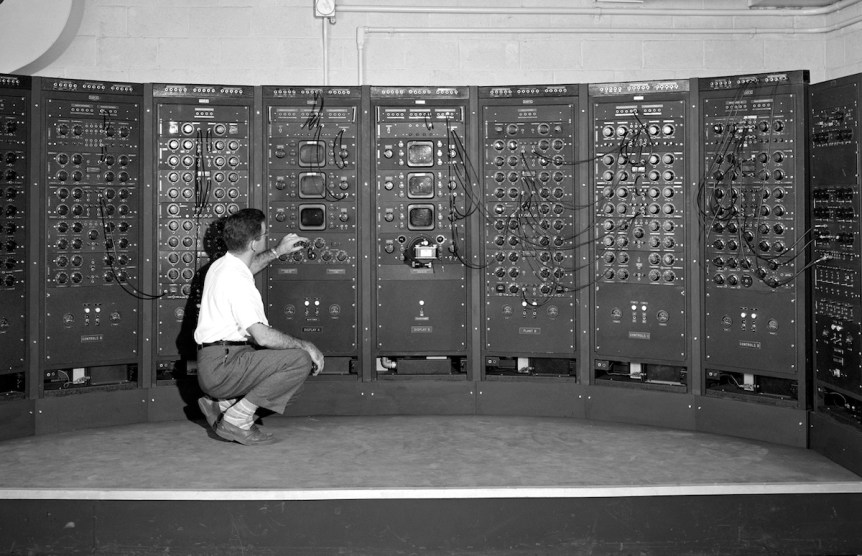 Analog Computing Machine in Fuel Systems Building Lewis Flight Propulsion Lab-NASA