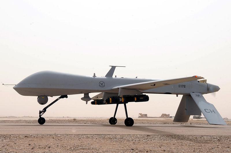 MQ-1B Predator UAV drone from U.S. Air Force. Photo by Tech. Sgt. Sabina Johnson