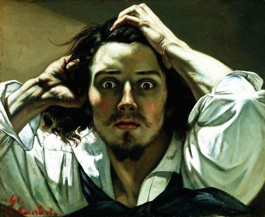 Gustave Courbet-Self Portrait (The Desperate Man) c 1843