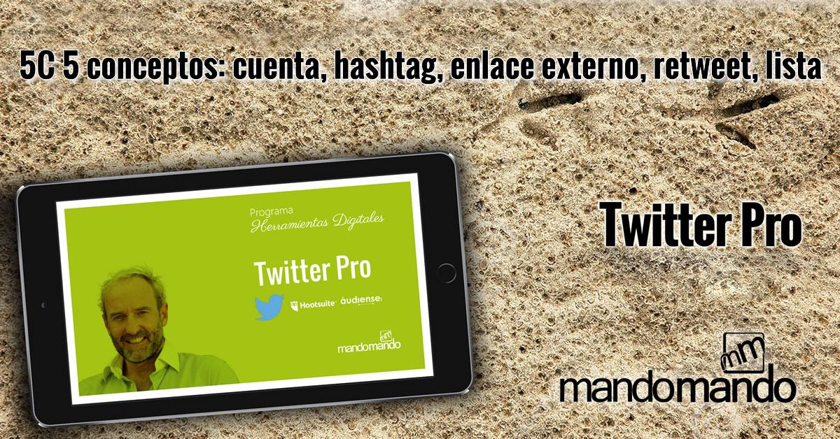 5C 5 conceptos-cuenta-hashtag-enlace externo-retweet-lista