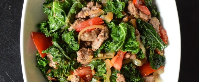 Italian Sausage and Kale Bowl