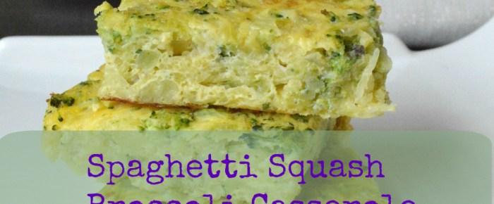 Spaghetti Squash Broccoli Casserole
