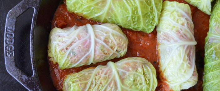 Pork Cabbage Involtini