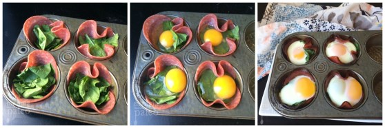 baked egg cup assembly