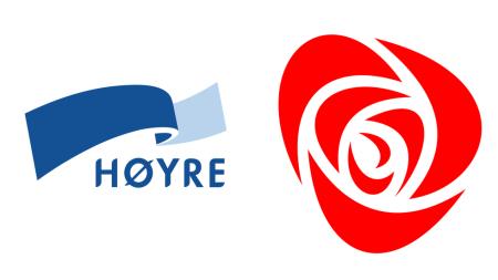 Foto: Høyre/Arbeiderpartiet. Fosna-Folket avis