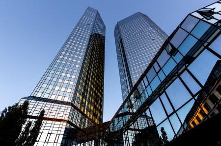 Deutsche Bank sine lokaler i Frankfurt. Foto: Carsten Frenzl