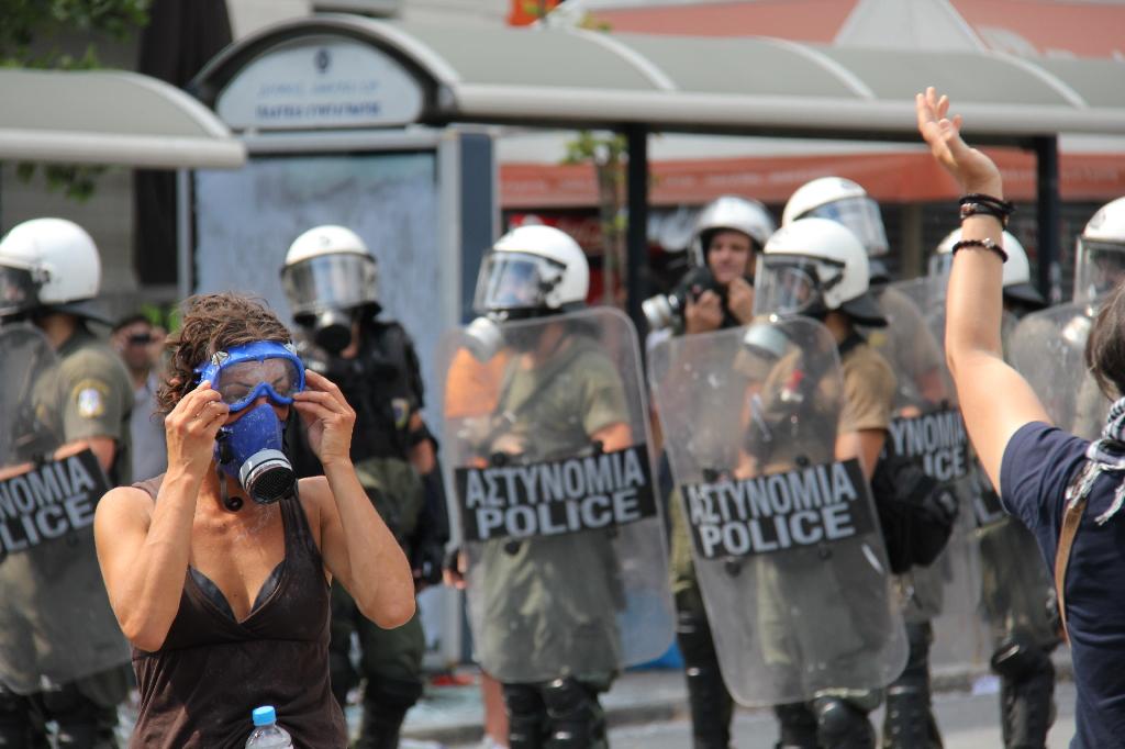 Opprør i Hellas. Foto: yannis porfyropoulos