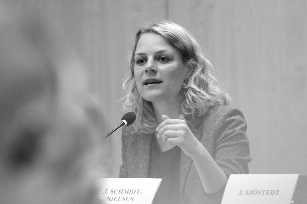Johanne Schmidt-Nielsen, leder i Enhedslisten. Foto: GUE/NGL