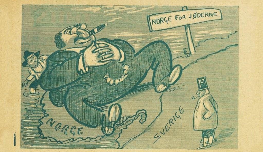 Antisemittisk karikatur fra det norske vittighetsbladet Vikingen i 1924. Er den bare generaliserende eller også rasistisk?