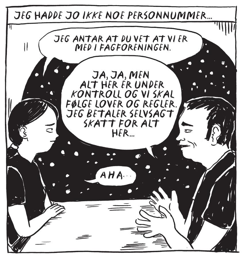 Utsnitt fra Lønnsslaver av Daria Bogdanska.