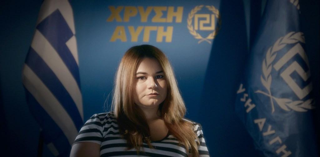 Ourania fra Gyllent daggry i filmen «Hatets vugge». Foto: Filmweb.