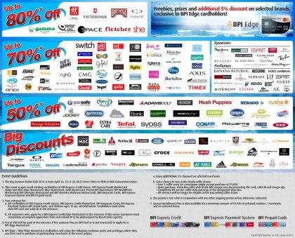 The Big Summer Outlet Sale Participating Brands