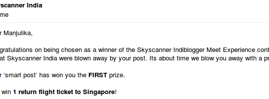 Singapore Ticket