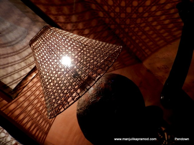 Lampshade captured inside Neemrana fort