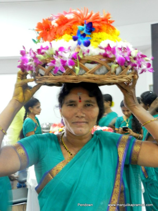 Celebrating Batukamma, 20th October, telangana