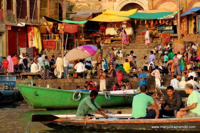 Early morning ride in Varanasi