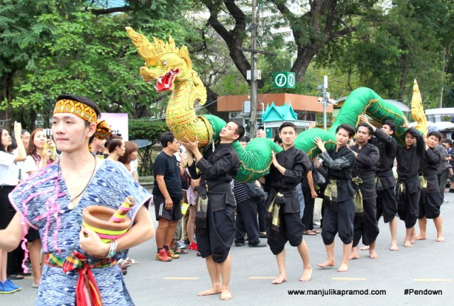 Cultural parade- dances of Thailand