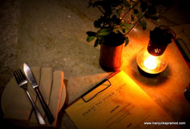 Farm to fork menu