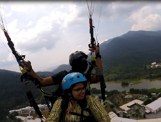 Paragliding- When I Flew High In The Air at Kuala Kubu Baru
