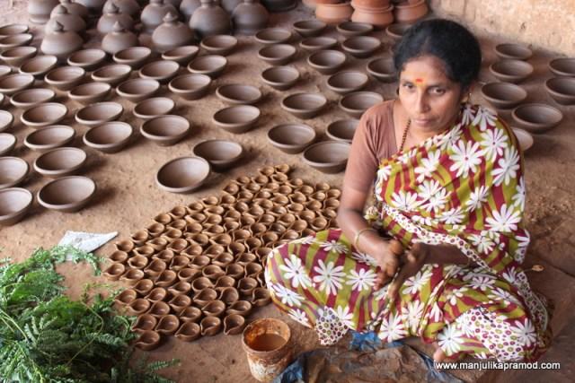 Pottery making, Mysore village