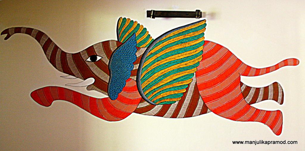 Gond Art at Singinawa near Kanha National Park