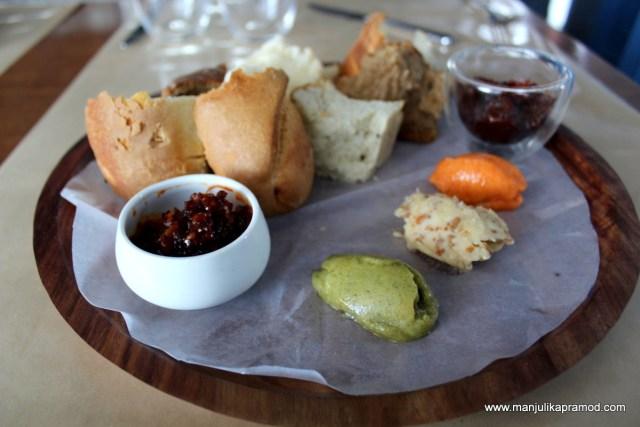 Butter tasting, Breads platter