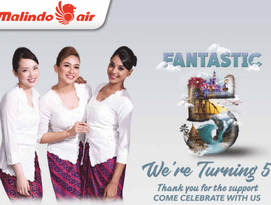Fly, Airlines, Travel, Malindo, 5th Anniversary,